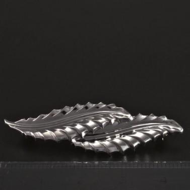 Stříbrná brož ve tvarů lístků č.3