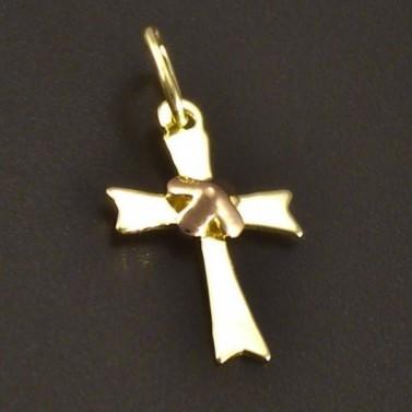 Křížek žluté a červené zlato č.1