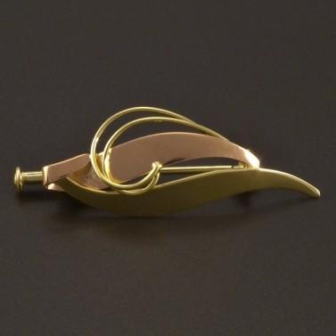 Zlatá brož žlutočervená č.1