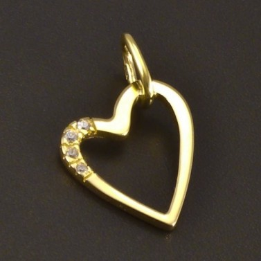 Zlaté srdce se zirkony č.1