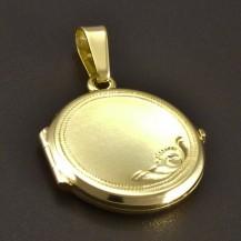 Zlatý plochý medailon