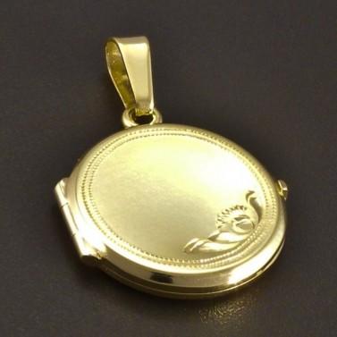 Zlatý plochý medailon č.1