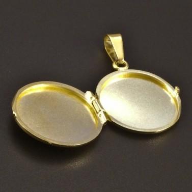 Zlatý medailon s rytinou po obvodu č.2