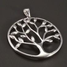 Velký stříbrný přívěsek strom života