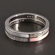 Stříbrný smaltovaný prsten