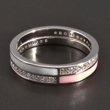 Stříbrný smaltovaný prsten č.1