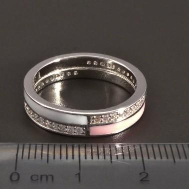 Stříbrný smaltovaný prsten č.2