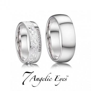 Stříbrné snubní prsteny 038 Harry a Meghan č.1