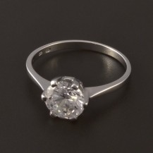 Stříbrný prsten zirkon 7 mm