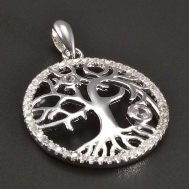 Stříbrný strom života se zirkony č.1