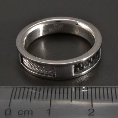 Prsten z chirurgické oceli č.2