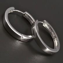 Stříbrné kruhy hladké lesklé