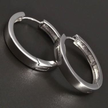 Stříbrné kruhy hladké lesklé č.1
