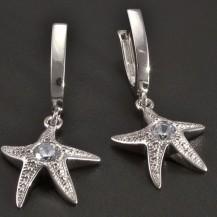 Náušnice bílé zlato hvězdice
