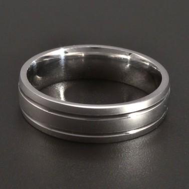 Stříbrný prsten lesklá linie č.1