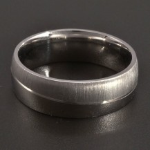 Stříbrný prsten lesk a mat