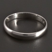 Jednoduchý lesklý stříbrný prsten