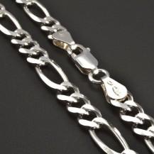 Stříbrný řetízek typu figaro