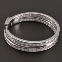 Zirkonové stříbrné kruhy se zámečkem