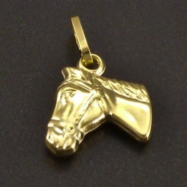 Zlatý přívěsek koně č.1