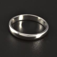 Jednoduchý hladký stříbrný prsten