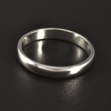 Jednoduchý hladký stříbrný prsten č.1