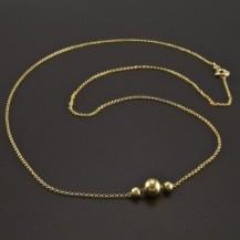 Zlatý náhrdelník s kuličkami