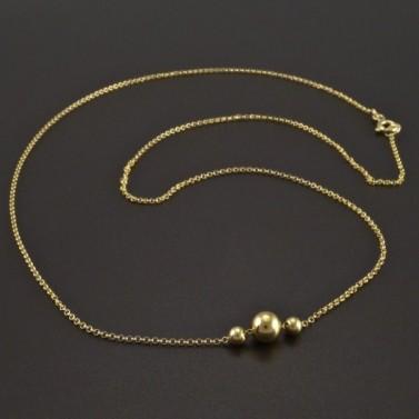 Zlatý náhrdelník s kuličkami č.1