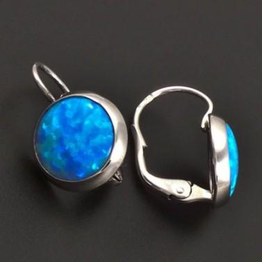 Modré opálové náušnice ze zlata 7061 č.2