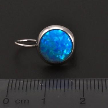 Modré opálové náušnice ze zlata 7061 č.3