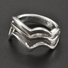 Prořezávaný prsten celostříbrný 2321