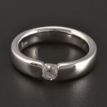 Masivní prsten stříbrný broušené zirkony 289