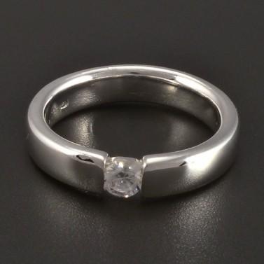Masivní prsten stříbrný broušené zirkony 289 č.1