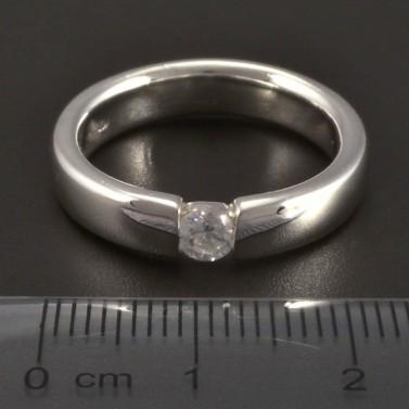 Masivní prsten stříbrný broušené zirkony 289 č.2
