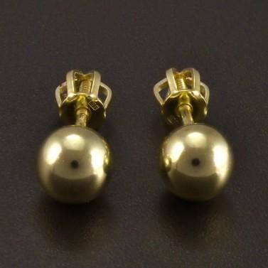 Zlaté náušnice kuličky 3957 č.1