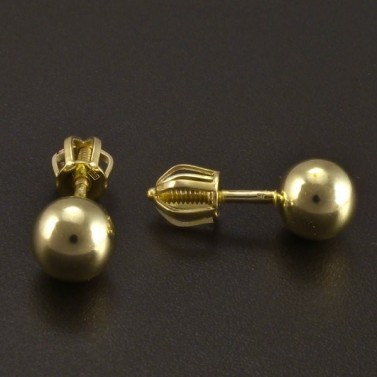 Zlaté náušnice kuličky 3957 č.2