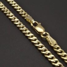 Zlatý řetízek pancr 3 mm