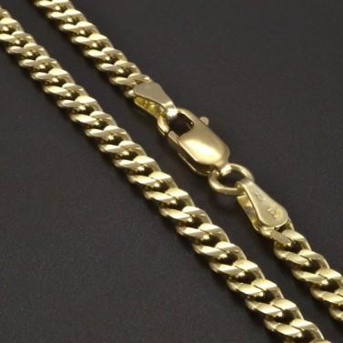 Zlatý řetízek pancr 3 mm č.1