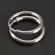 Hladké stříbrné kroužky