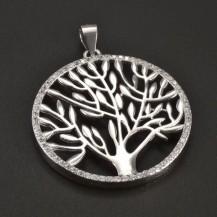 Stříbrný strom života jemné zirkony