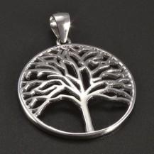 Jednoduchý stříbrný přívěs strom života