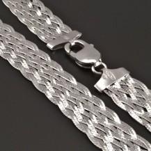 Stříbrný široký náhrdelník