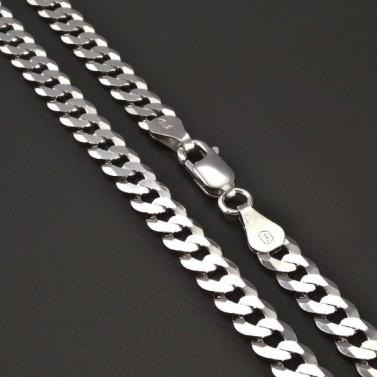 Stříbrný řetízek pancr 5,4 mm č.1