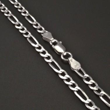 Stříbrný řetízek fantazie 4 mm č.1