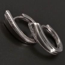 Stříbrné náušnice ve tvaru kroužku