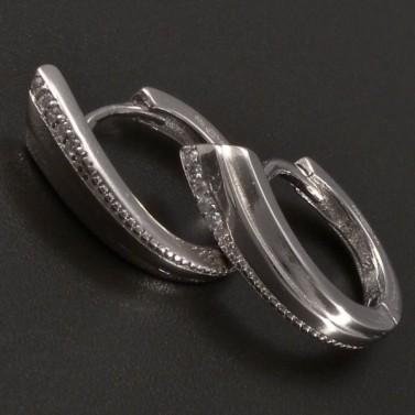 Stříbrné náušnice ve tvaru kroužku č.1
