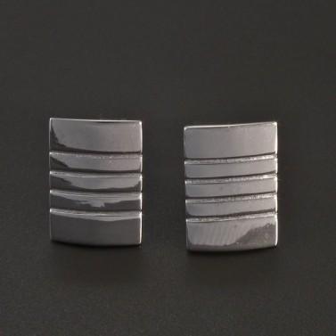 Manžetové knoflíky stříbrné č.1