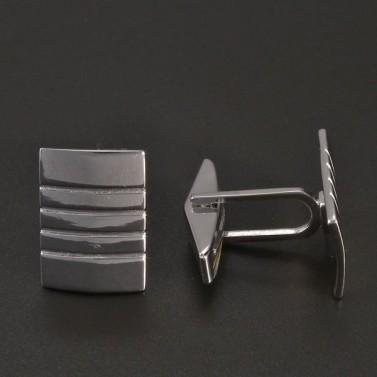 Manžetové knoflíky stříbrné č.2