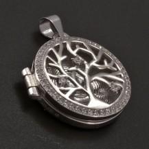Stříbrný medailon strom života