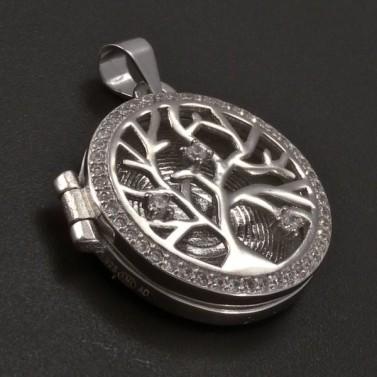 Stříbrný medailon strom života č.1